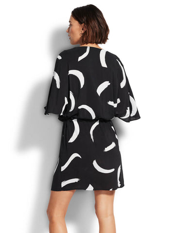 Seafolly New Wave Kaftan In Black