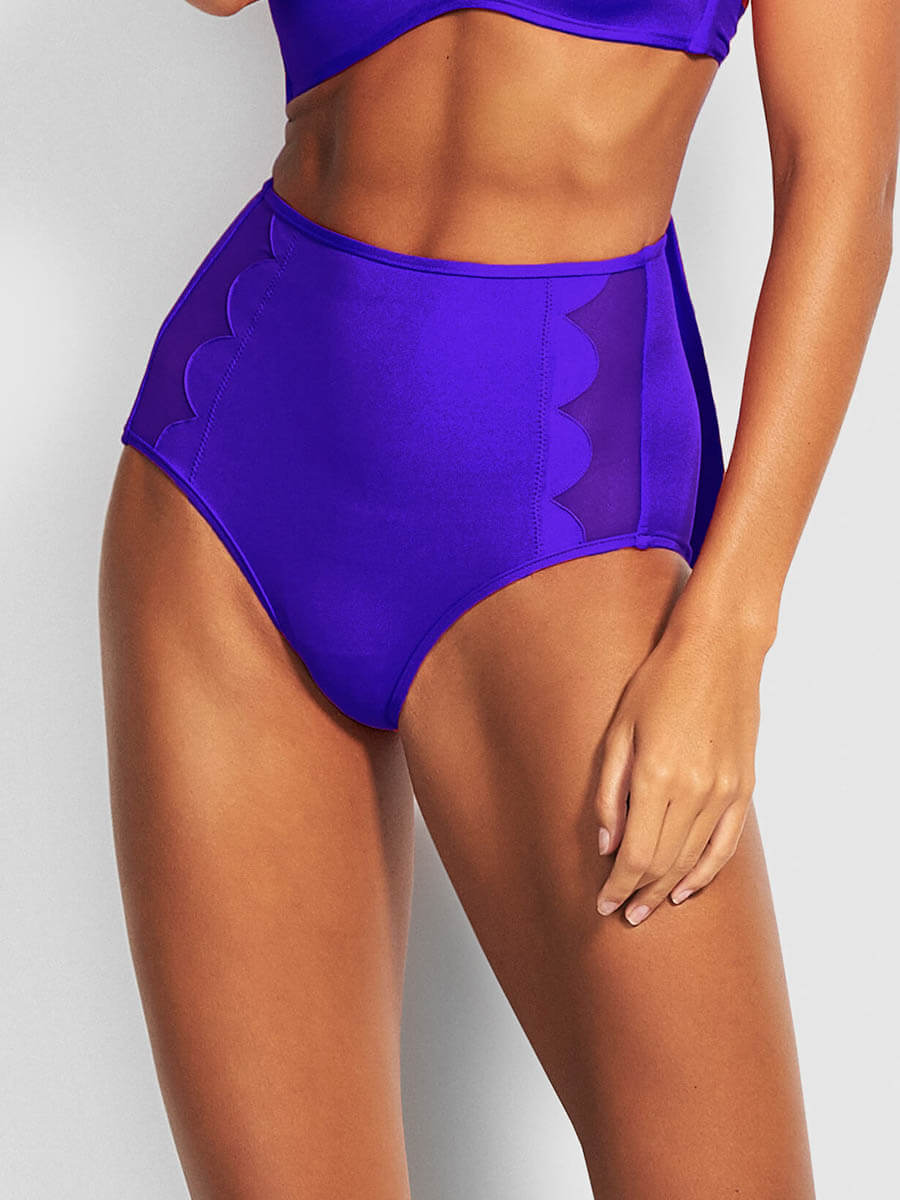 Seafolly Petal Edge High Waist Bottom Reflex Blue