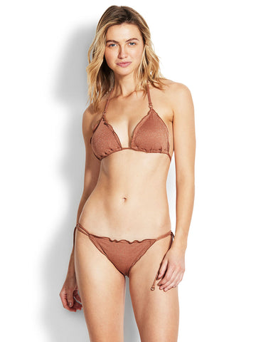 Seafolly Stardust Slide Triangle Bronze
