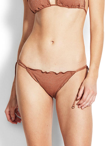 Seafolly Stardust Brazilian Tie Side Bronze