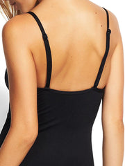 Seafolly Tie Front Sweetheart Maillot Black, view 4, click to see full size