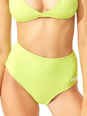 Solid & Striped The Beverly Bottom Chartreuse Rib, view 1, click to see full size
