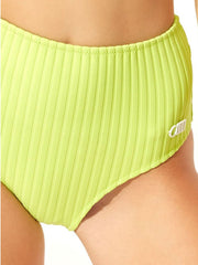 Solid & Striped The Beverly Bottom Chartreuse Rib, view 3, click to see full size
