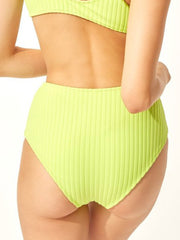 Solid & Striped The Beverly Bottom Chartreuse Rib, view 2, click to see full size