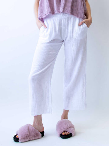 STARKx Billy Pants Crop In White