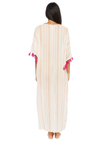 Trina Turk Diamond Cover Caftan White