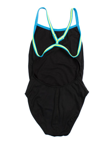 TYR One Piece Microback Color Trim Black/Antibes