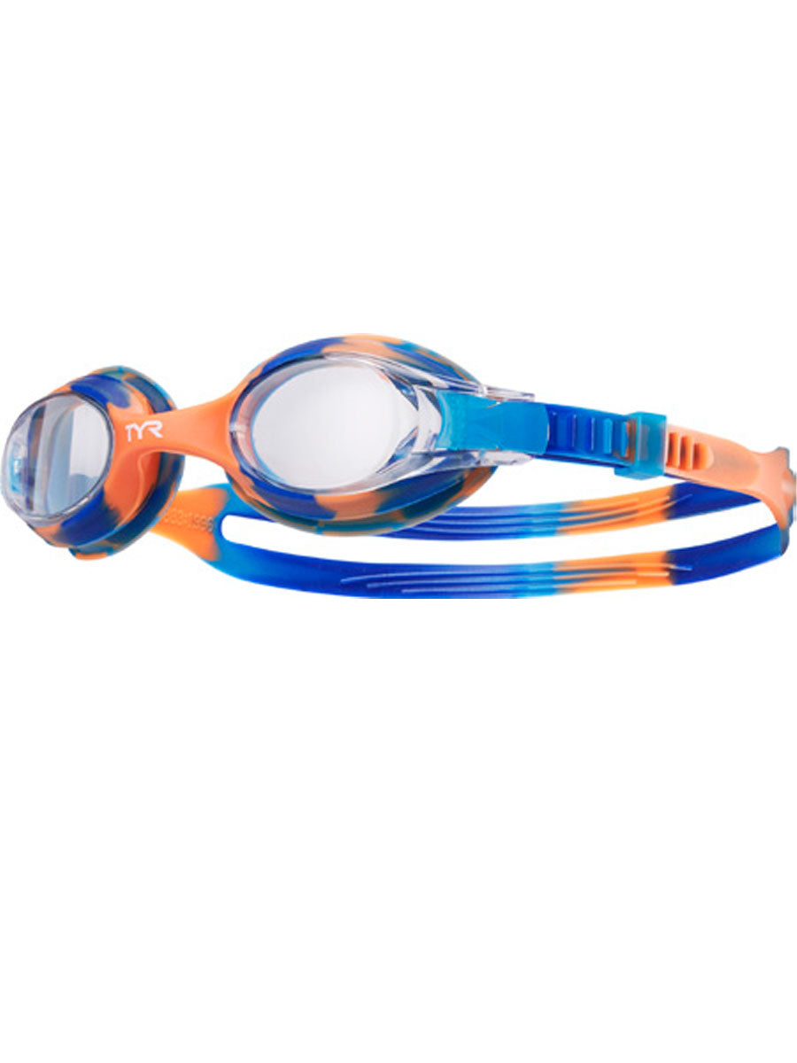 TYR Kids Swimples Tie Dye Goggles Blue/Orange