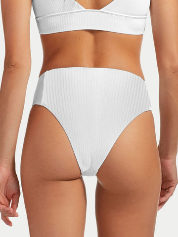 Vitamin A Sienna High Waist EcoRib White