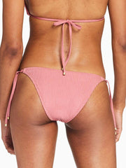 Vitamin A Tara Tie Side Bottom In Sunkissed Shimmer Ecorib, view 2, click to see full size
