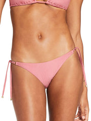 Vitamin A Tara Tie Side Bottom In Sunkissed Shimmer Ecorib, view 1, click to see full size