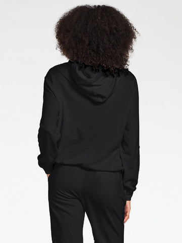 Vitamin A Emery Fleece Hoodie in EcoSoft Black