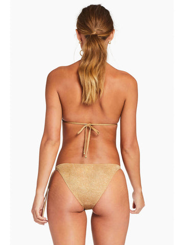 Vitamin A Gia Reversible Triangle Top in Golden Glow Metallic
