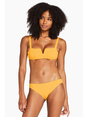 Vitamin A Kaya Top in Iced Mango EcoRib, view 1, click to see full size