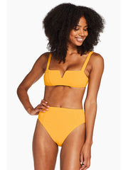 Vitamin A Kaya Top in Iced Mango EcoRib, view 4, click to see full size