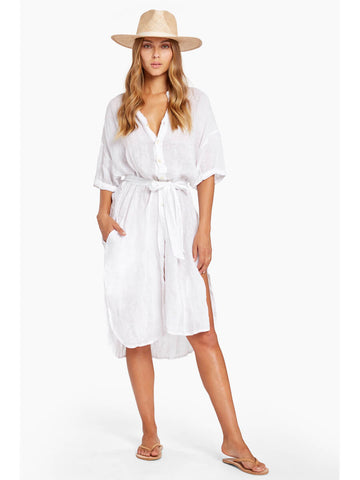 Vitamin A Playa Dress in White EcoLinen