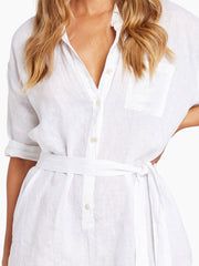 Vitamin A Playa Romper in White, view 4, click to see full size