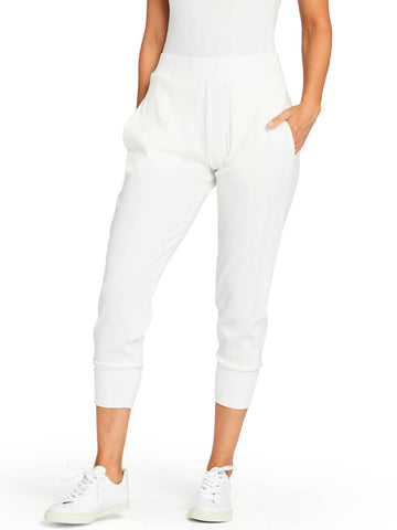 Vitamin A West Pant in White Organic Rib