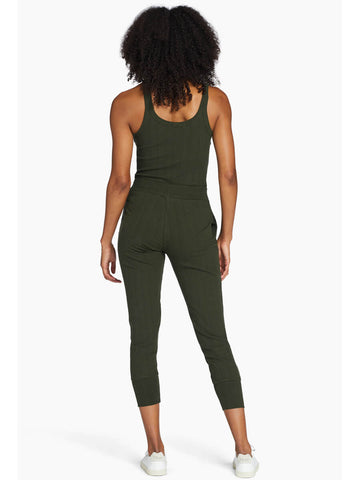 Vitamin A West Pant in Forest Organic Rib