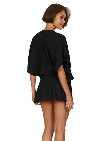 Vintage Pleats Tunic in Black