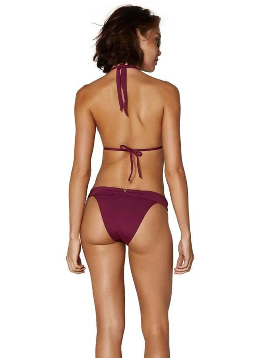ViX Solid Bia Tube Top Burgundy