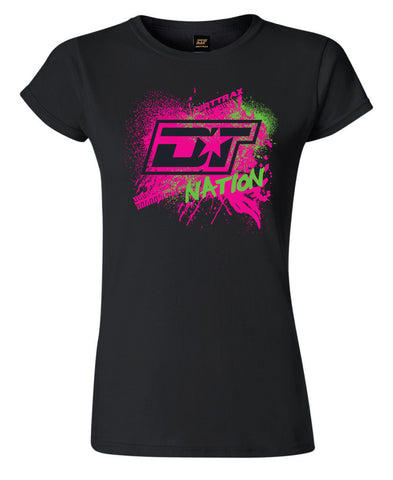 Womens DT Nation Splatter Tee