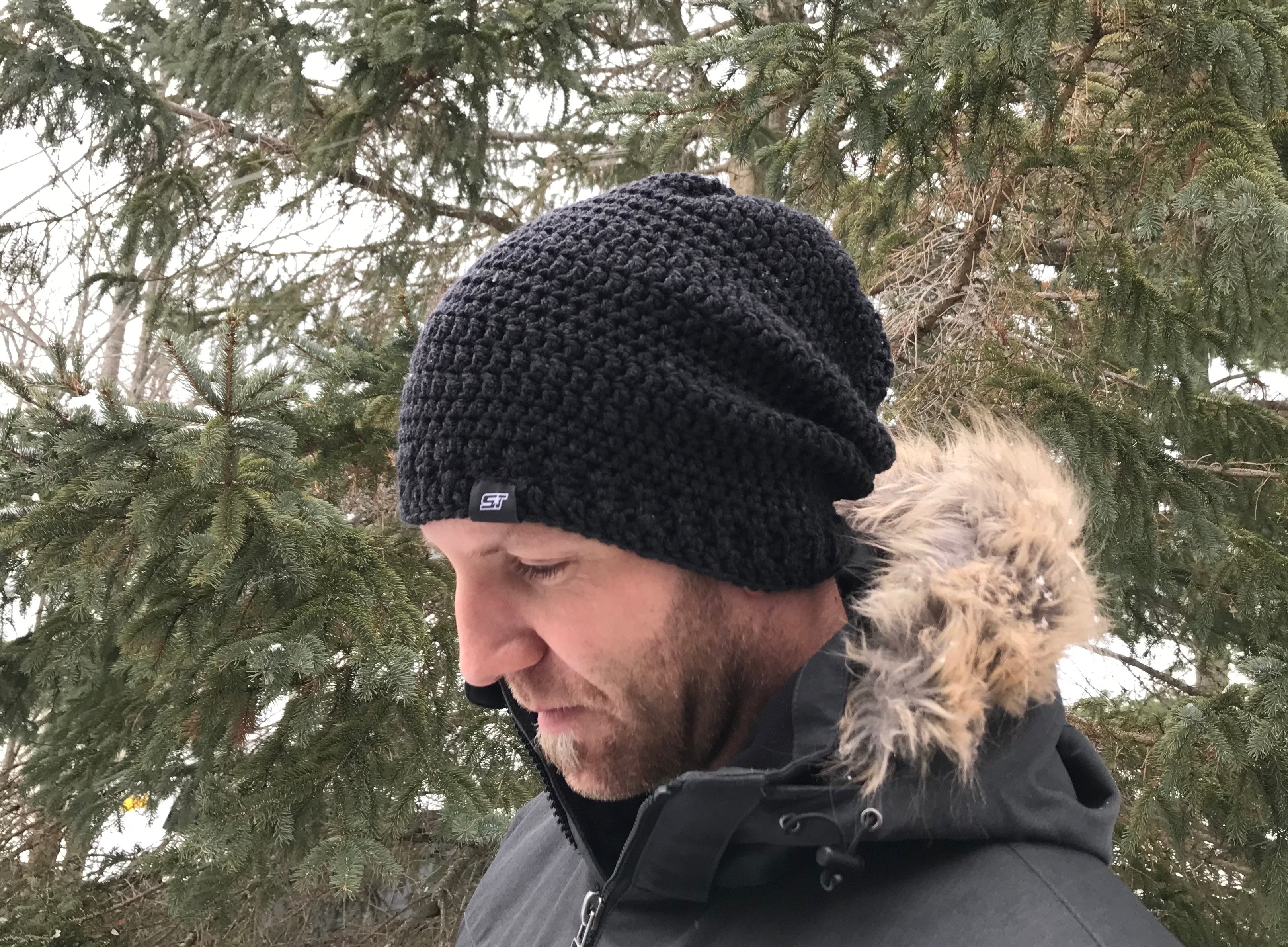 ST Hand Knit Toque (CHARCOAL) by Sherri-Lynn