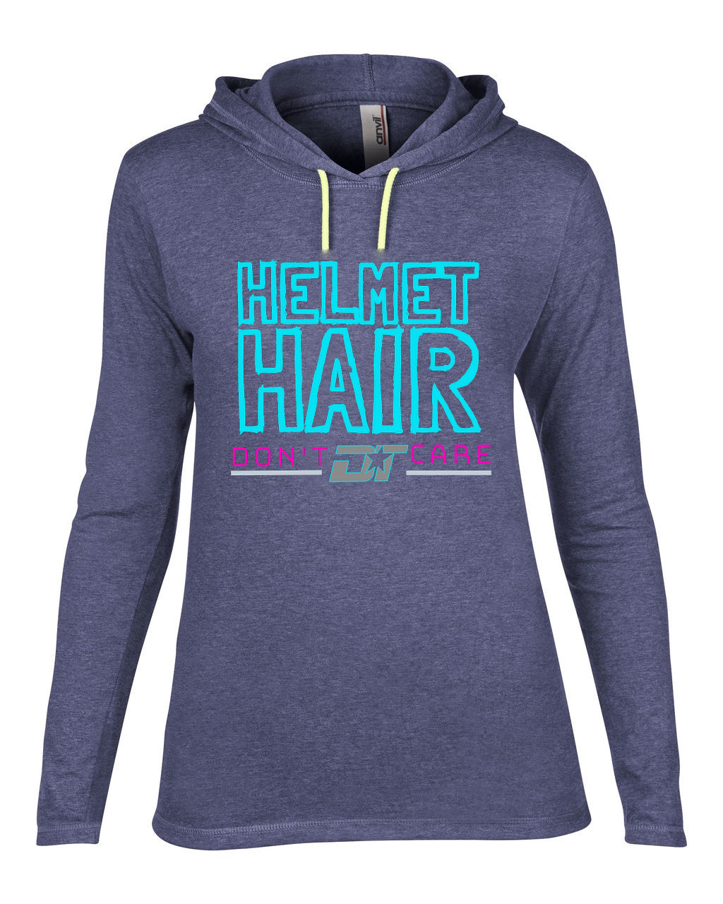 Ladies Helmet Hair Hooded Long Sleeve