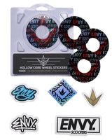 ENVY 110MM HOLLOW CORE FONT WHEEL STICKERS