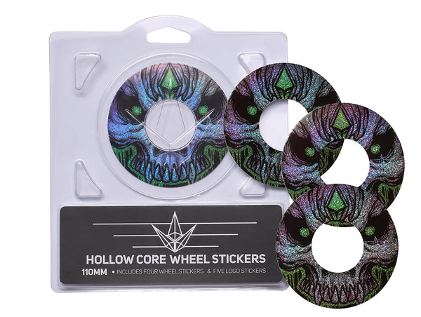 ENVY 110MM HOLLOW CORE GREEN SKULL WHEEL STICKERS