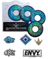ENVY 120MM HOLLOW CORE BLUE EYE WHEEL STICKERS