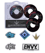 ENVY 120MM HOLLOW CORE TYPE WHEEL STICKERS