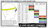 S1 LIFER BLACK MATTE BRIGHT GREEN STRAPS HELMET