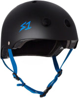 S1 LIFER BLACK MATTE CYAN STRAPS HELMET