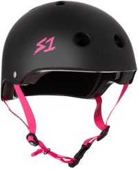 S1 LIFER PINK HELMET POSSE BLACK MATTE HELMET