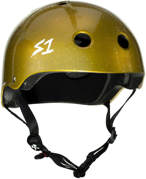 S1 LIFER GOLD GLOSS GLITTER HELMET