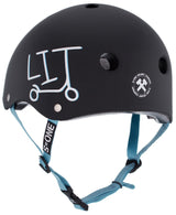 S1 LIFER UNDIALED LIT BLACK MATTE HELMET
