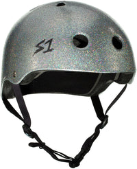 S1 LIFER SILVER GLOSS GLITTER HELMET