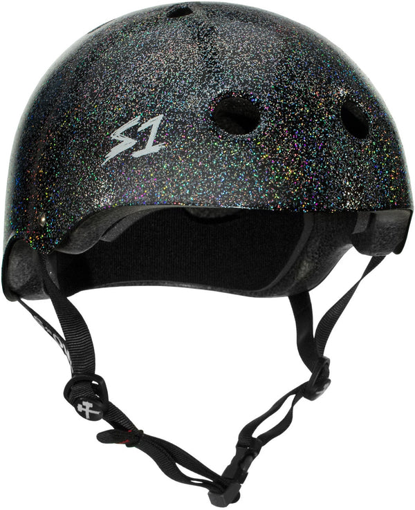 S1 MEGA LIFER BLACK GLOSS GLITTER HELMET
