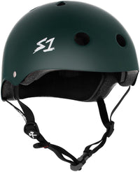 S1 MEGA LIFER DARK GREEN MATTE HELMET