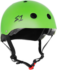 S1 MINI LIFER BRIGHT GREEN MATTE HELMET