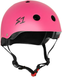 S1 MINI LIFER HOT PINK MATTE HELMET