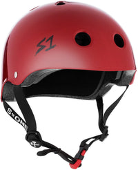 S1 MINI LIFER SCARLET RED GLOSS HELMET