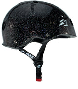 S1 MINI LIFER BLACK GLOSS GLITTER HELMET