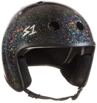 S1 RETRO LIFER BLACK GLOSS GLITTER HELMET