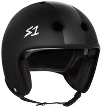 S1 RETRO LIFER BLACK MATTE BLACK STRIPES HELMET