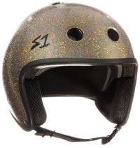 S1 RETRO LIFER GOLD GLOSS GLITTER HELMET