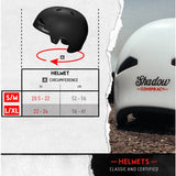 SHADOW CONSPIRACY FEATHERWEIGHT IN-MOLD MATTE BLACK HELMET