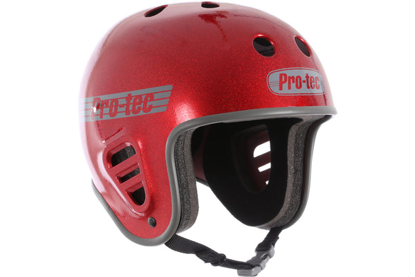 PRO-TEC FULL CUT RED FLAKE HELMET