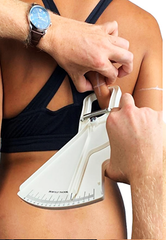 take tricep skinfold with a skinfold caliper
